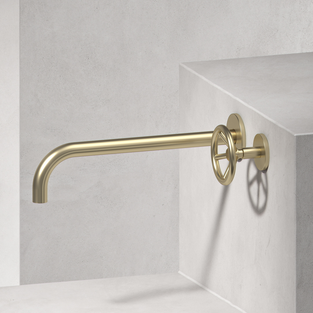 00519PL_BRO06_Brooklyn_Wall_Mounted_Basin_Tap_in_Natural_Brass